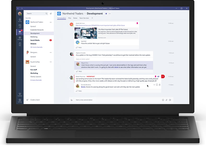 Microsoft Teams - main chat interface