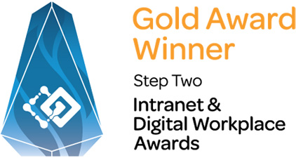 StepTwo - Intranet & Digital Workplace Awards - Gold Award Winner