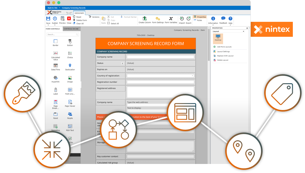 Dynamic user interfaces and complex workflow bring tangible process improvement