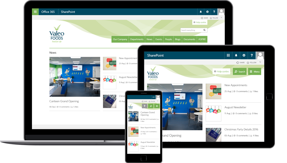 An intranet-in-a-box on SharePoint Online and Office 365