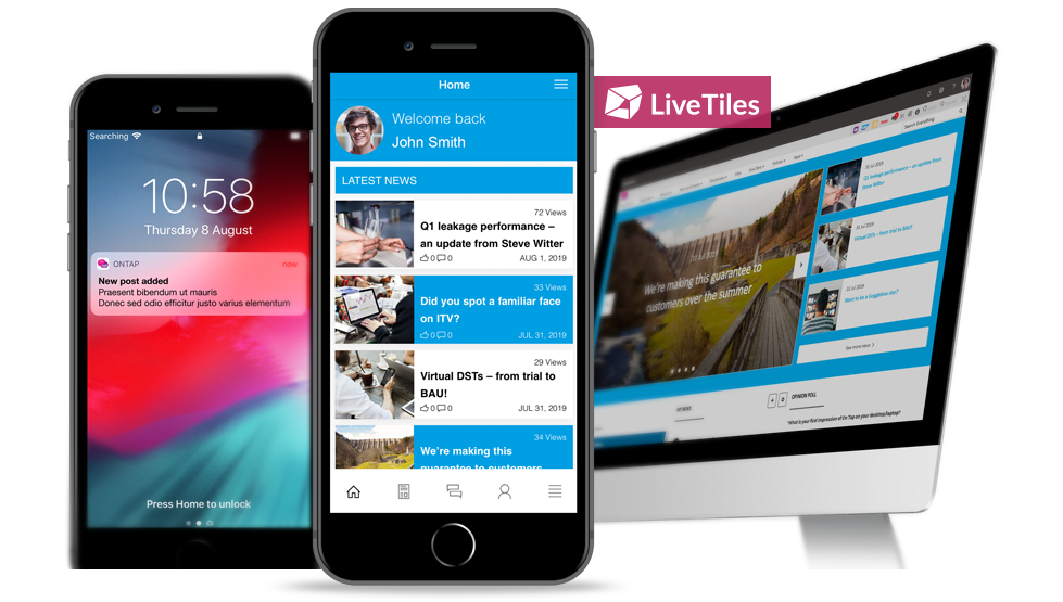 A LiveTiles intranet and a custom mobile app to bring communications to employees out in the field