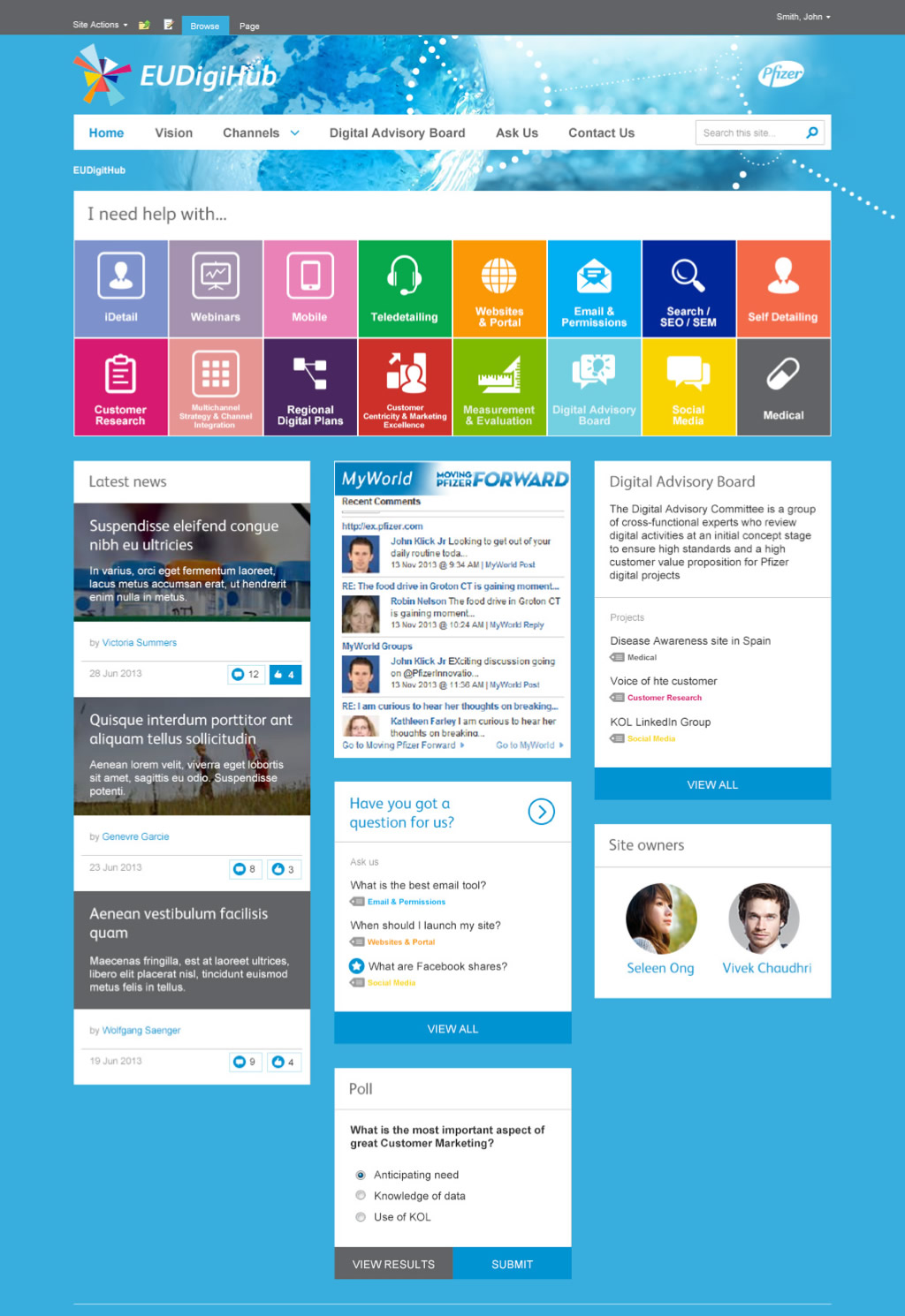 redesigning sharepoint for visual impact and usability