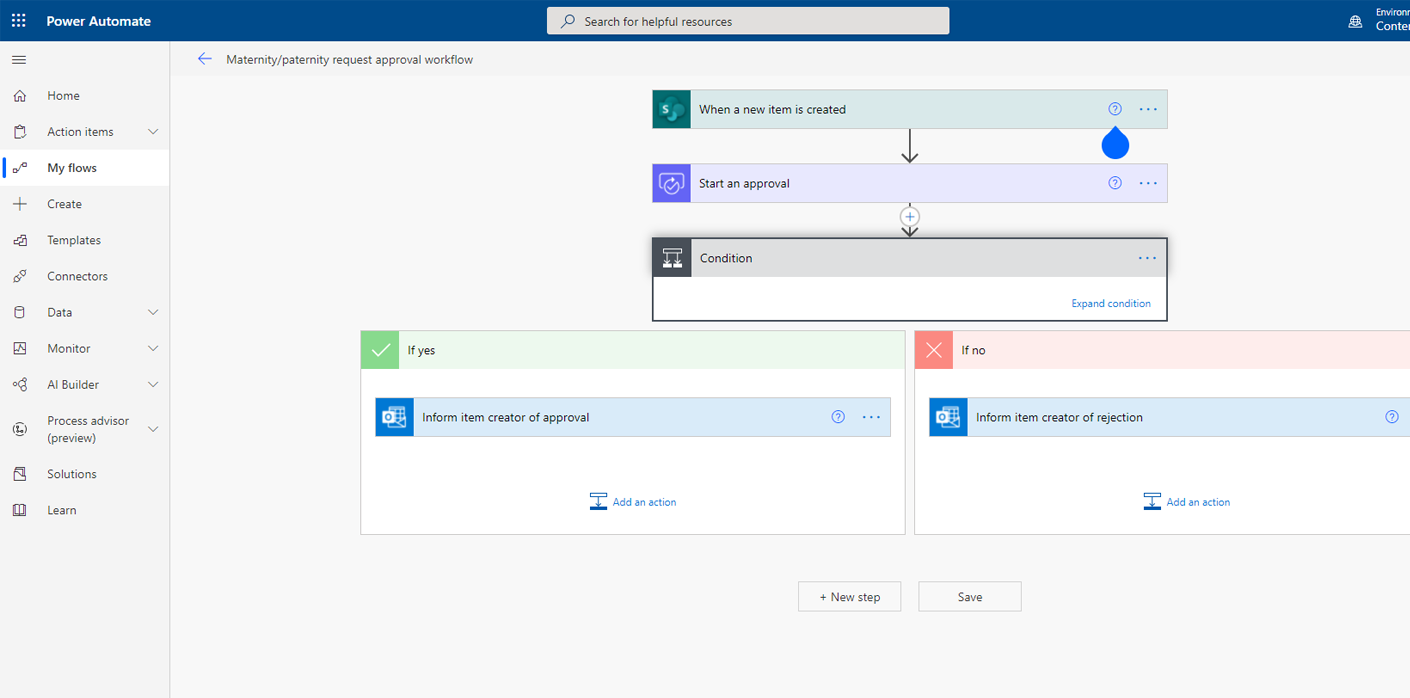create approval workflows with power automate flow