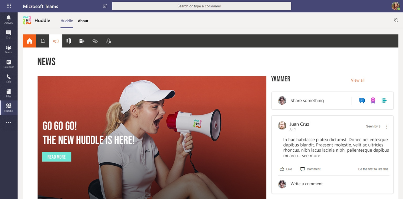 surface your intranet in Microsoft Teams