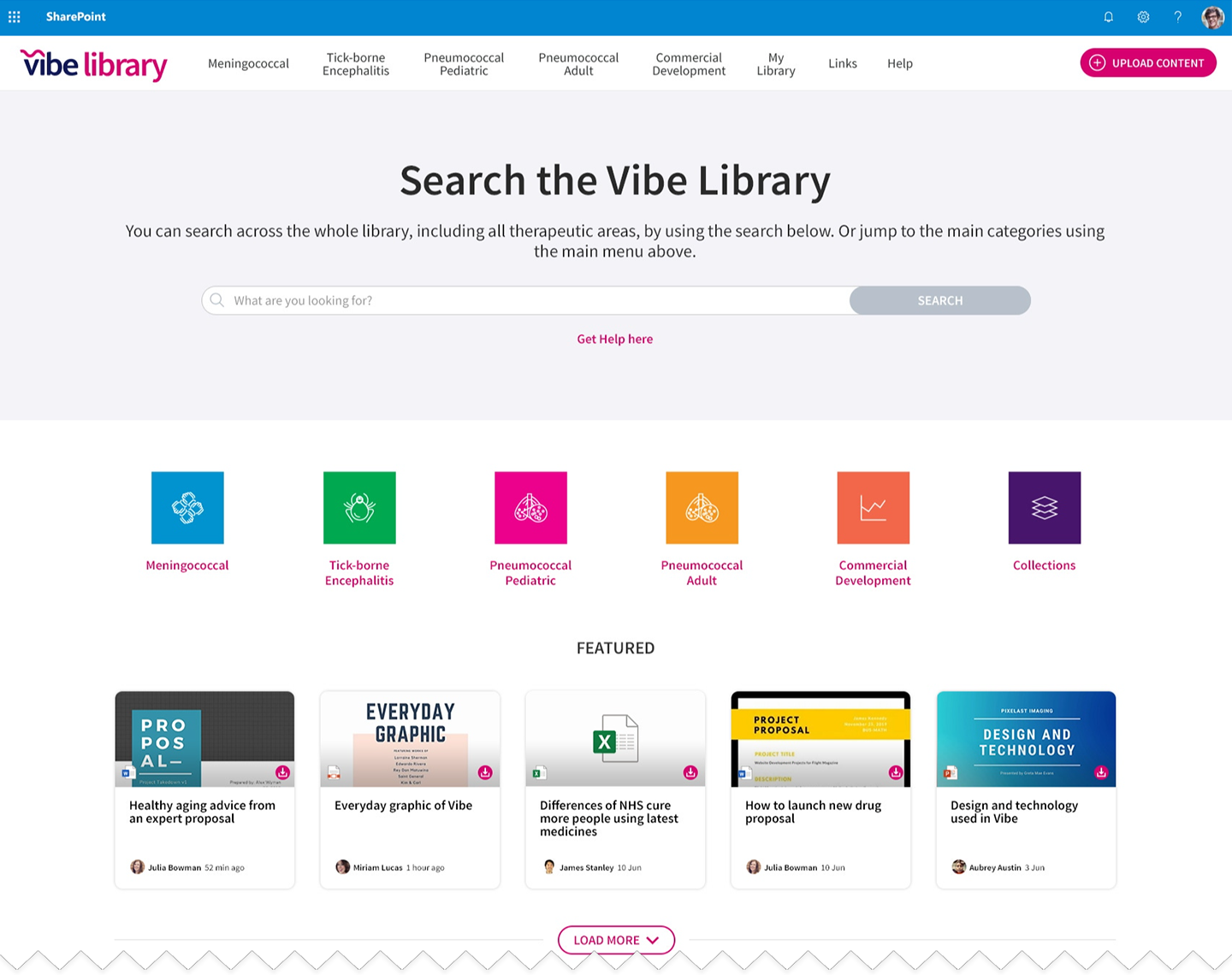 Vibe Library Intranet Homepage blog