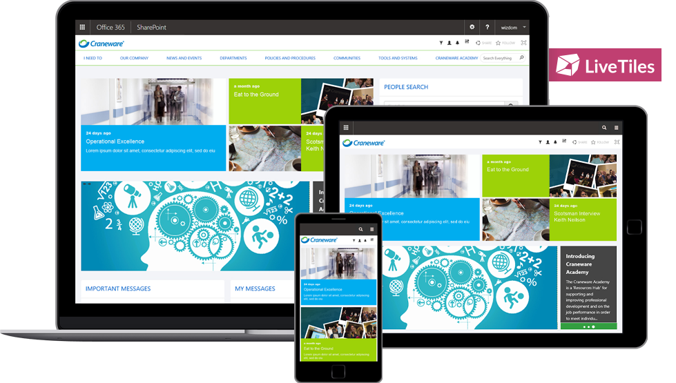 A SharePoint 2016 intranet-in-a-box with great findability and rich features