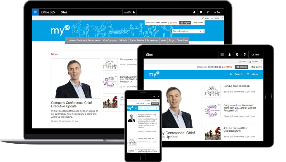 SharePoint consultancy, UX & development to build a global digital workspace for 13,000 users