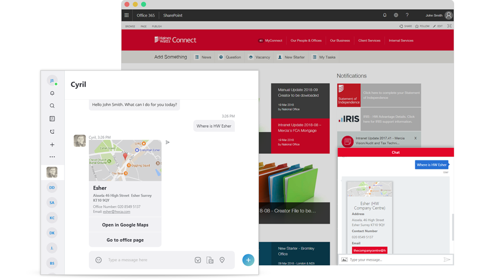 How new Intranet chatbot helps to improve efficiency in the company